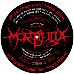 MORTIFILIA – My Gods Are Buried – picture EP