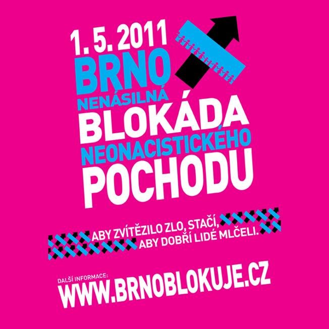 BLOKÁDA POCHODU NEONACISTŮ – BRNO 1.5.2011