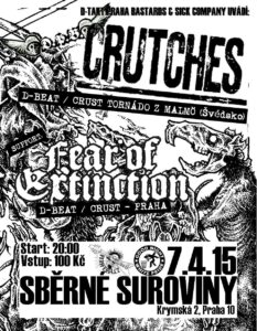 CRUTCHES (Swe) + FEAR OF EXTINCTION