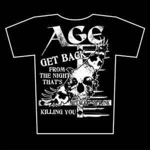 AGE – metalkrushpunk – black t-shirt