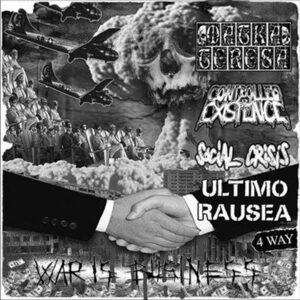 CONTROLLED EXISTENCE / MATKA TERESA / ULTIMO RAUSEA / SOCIAL CRISIS – 4 way split EP