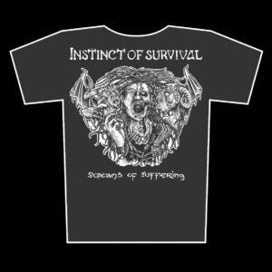 INSTINCT OF SURVIVAL – Screams of Suffering – dámské grafit tričko