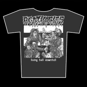 AGATHOCLES – Living Hell Downfall – girlie graphite t-shirt