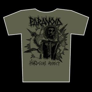 PARANOID – Hardcore Addict – olive tričko