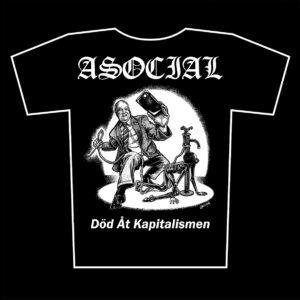 ASOCIAL – Död Åt Kapitalismen – tričko