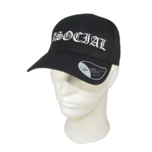ASOCIAL – embroidered logo – cap