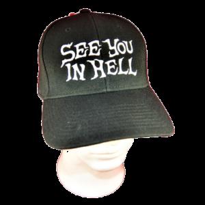 SEE YOU IN HELL – logo výšivka – čepice