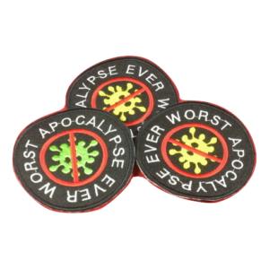 CORONA 19 – Worst Apocalypse Ever – embroidered patch