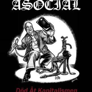 ASOCIAL – Död Åt Kapitalismen – LP (diehard splatter vinyl)