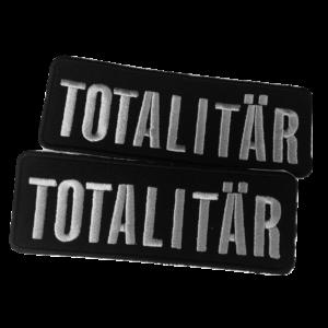TOTALITÄR – silver logo – vyšívaná nášivka