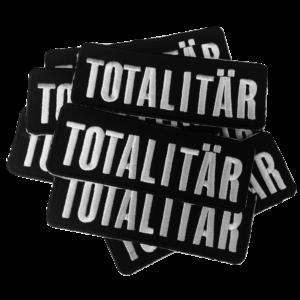 TOTALITÄR – white logo – vyšívaná nášivka