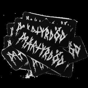 MARTYRDOD – white logo – vyšívaná nášivka