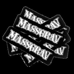 MASSGRAV – logo – vyšívaná nášivka