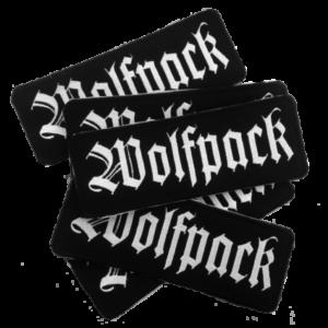 WOLFPACK – full logo – vyšívaná nášivka