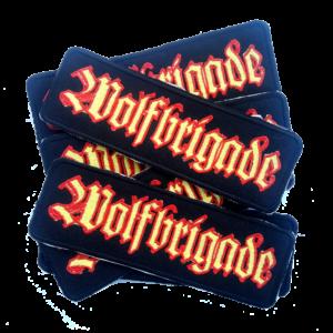 WOLFBRIGADE – yellow/red – vyšívaná nášivka