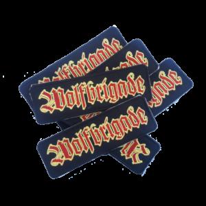 WOLFBRIGADE – red/yellow – vyšívaná nášivka