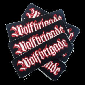 WOLFBRIGADE – white/red – vyšívaná nášivka