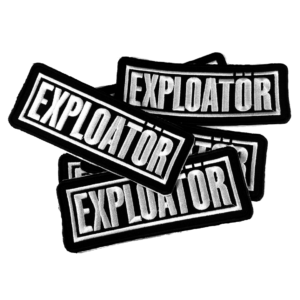 EXPLOATÖR – logo – vyšívaná nášivka