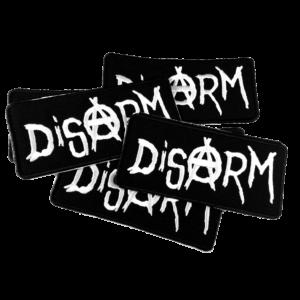 DISARM – logo – vyšívaná nášivka