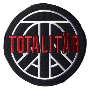 TOTALITÄR – red logo – vyšívaná zádová nášivka