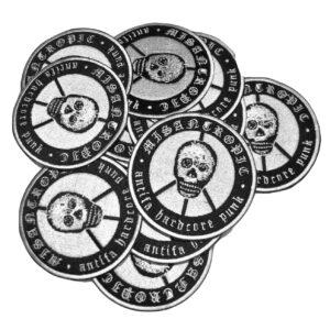 MISANTROPIC – Antifa Hardcore Punk – vyšívaná nášivka
