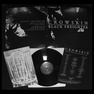 CROWSKIN / BLACK FREIGHTER – split LP