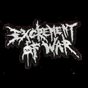 EXCREMENT OF WAR – logo 2 – vyšívaná nášivka