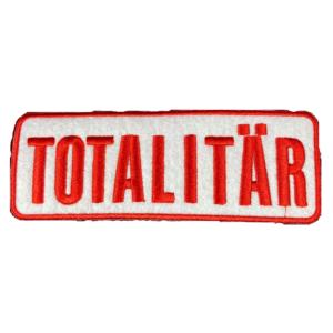 TOTALITÄR – red logo – vyšívaná nášivka