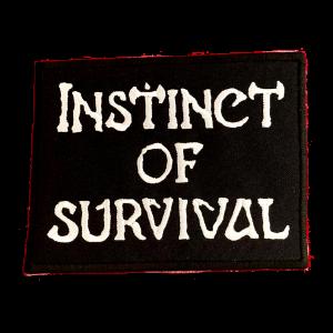 INSTINCT OF SURVIVAL – logo – vyšívaná nášivka