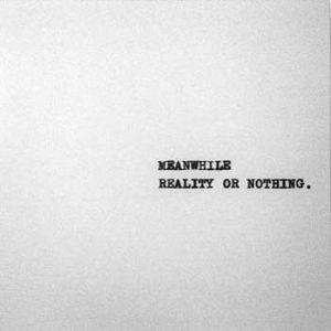 MEANWHILE – Reality or Nothing – LP